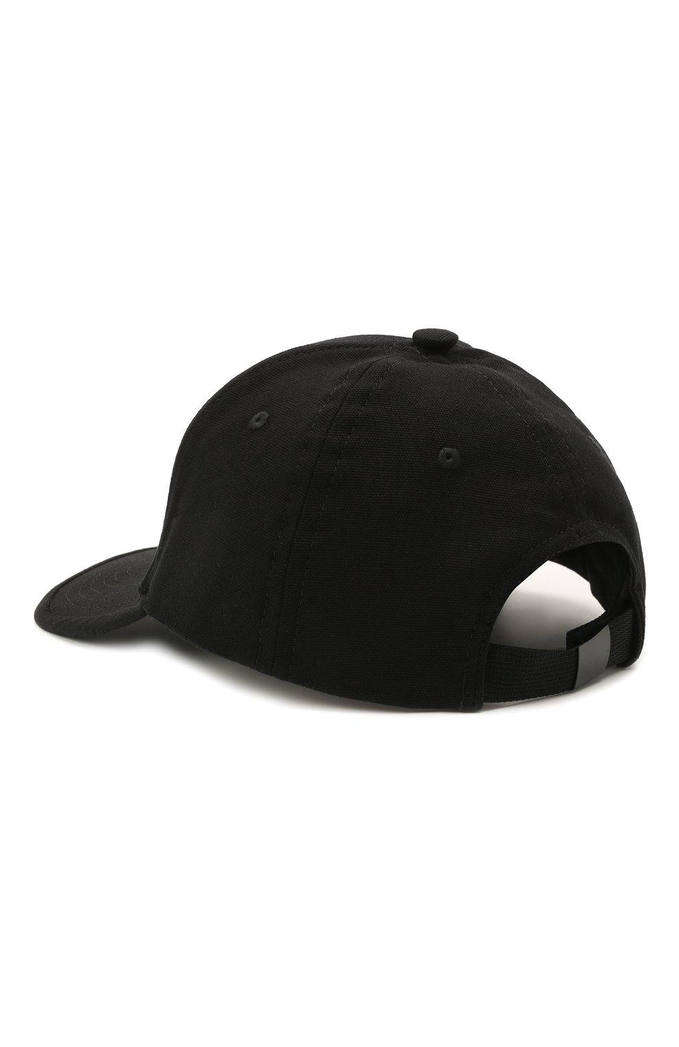 Детская хлопковая бейсболка STONE ISLAND черного цвета, арт. 741690265   Фото 2