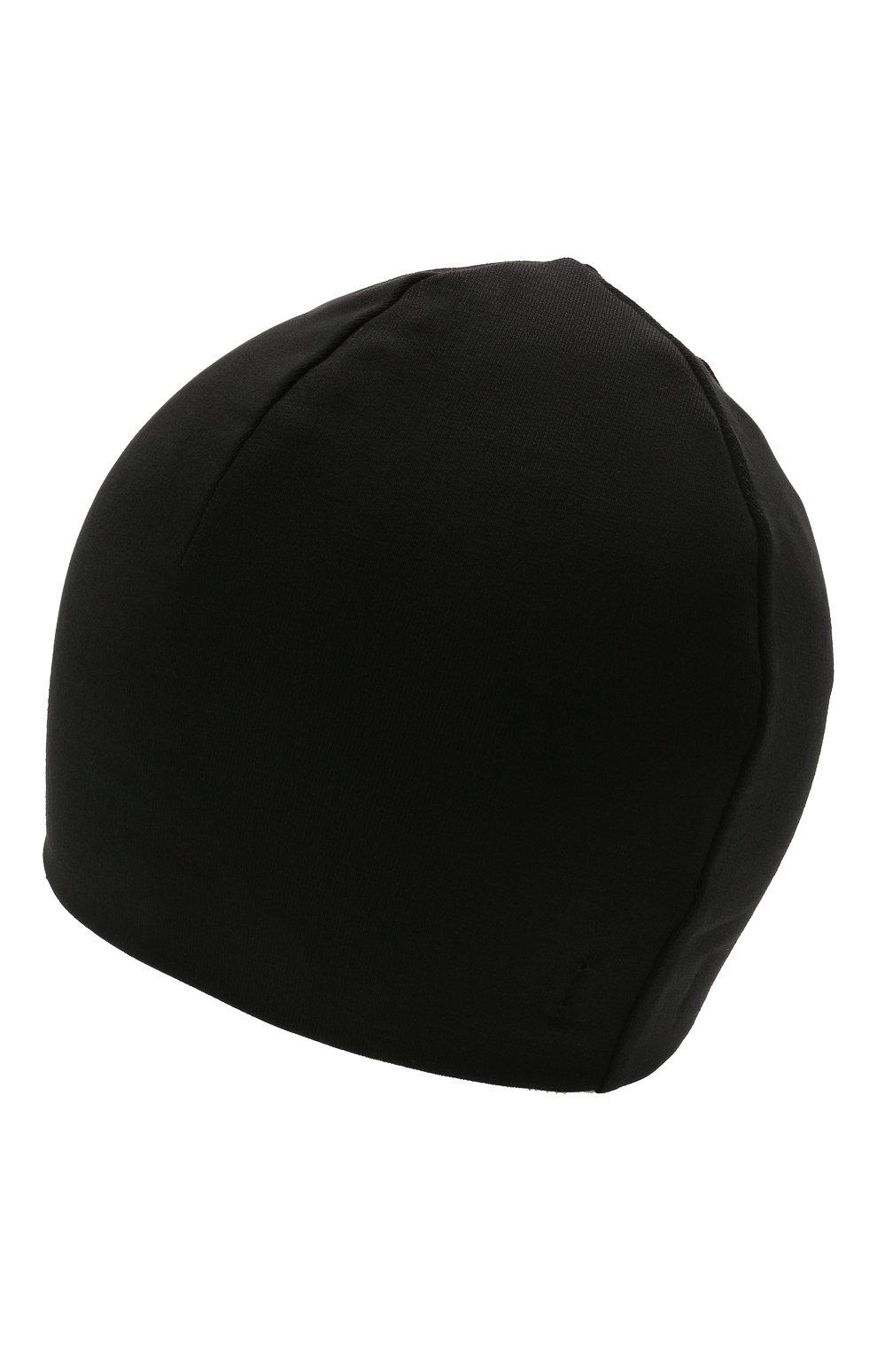 Детского хлопковая шапка MOSCHINO черного цвета, арт. H0X00Z/LDA25 | Фото 2