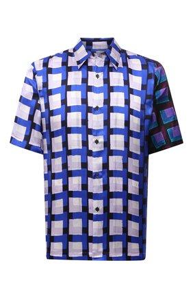Мужская рубашка из вискозы DRIES VAN NOTEN синего цвета, арт. 211-20739-2069 | Фото 1