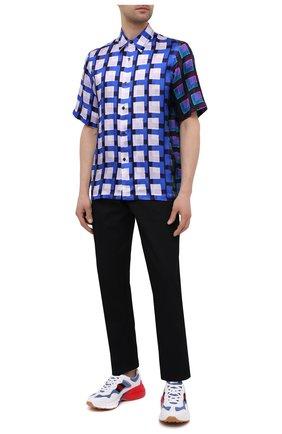 Мужская рубашка из вискозы DRIES VAN NOTEN синего цвета, арт. 211-20739-2069 | Фото 2