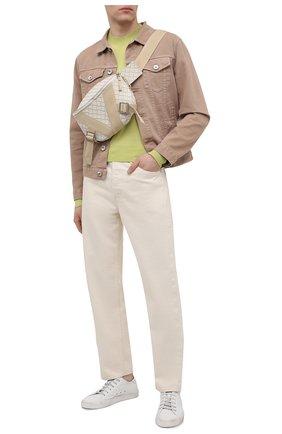 Мужская поясная сумка BOTTEGA VENETA белого цвета, арт. 652551/V0GK1 | Фото 2