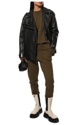 Женские кожаные ботинки bv tire BOTTEGA VENETA белого цвета, арт. 630297/VBS50 | Фото 2
