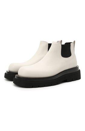 Женские кожаные ботинки bv lug BOTTEGA VENETA белого цвета, арт. 634396/VBS50 | Фото 1