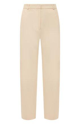 Женские брюки из вискозы TOTÊME светло-бежевого цвета, арт. 212-252-714 | Фото 1