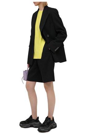 Женские комбинированные кроссовки triple s BALENCIAGA черного цвета, арт. 524039/W2FS2   Фото 2