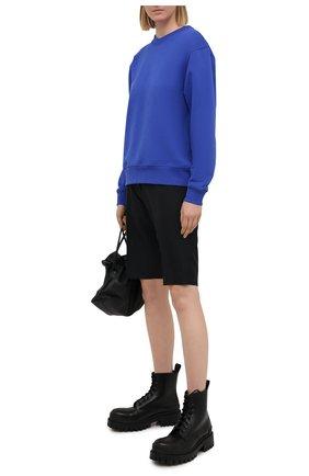 Женский хлопковый свитшот DRIES VAN NOTEN синего цвета, арт. 211-11173-2629 | Фото 2