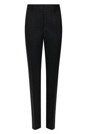 Женские шерстяные брюки DRIES VAN NOTEN темно-синего цвета, арт. 211-10933-2155 | Фото 1