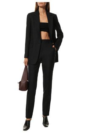 Женские шерстяные брюки DRIES VAN NOTEN темно-синего цвета, арт. 211-10933-2155 | Фото 2