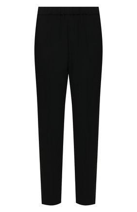 Женские брюки из вискозы DRIES VAN NOTEN черного цвета, арт. 211-10909-2177   Фото 1 (Силуэт Ж (брюки и джинсы): Прямые; Длина (брюки, джинсы): Стандартные; Женское Кросс-КТ: Брюки-одежда; Материал внешний: Синтетический материал, Вискоза; Стили: Классический)