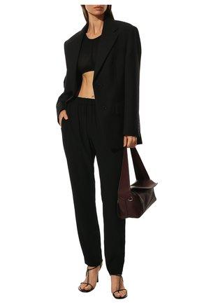 Женские брюки из вискозы DRIES VAN NOTEN черного цвета, арт. 211-10909-2177   Фото 2 (Силуэт Ж (брюки и джинсы): Прямые; Длина (брюки, джинсы): Стандартные; Женское Кросс-КТ: Брюки-одежда; Материал внешний: Синтетический материал, Вискоза; Стили: Классический)