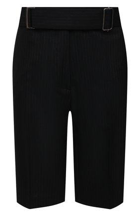 Женские шерстяные шорты DRIES VAN NOTEN темно-синего цвета, арт. 211-10907-2155 | Фото 1
