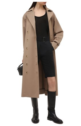 Женские шерстяные шорты DRIES VAN NOTEN темно-синего цвета, арт. 211-10907-2155 | Фото 2