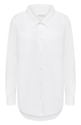 Женская хлопковая рубашка DRIES VAN NOTEN белого цвета, арт. 211-10719-2228 | Фото 1