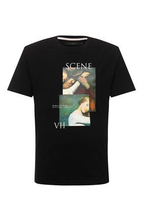 Мужская хлопковая футболка TEE LIBRARY черного цвета, арт. TSK-TS-18 | Фото 1