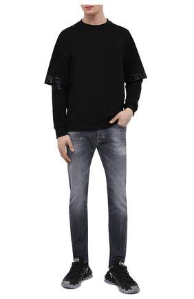 Мужской хлопковый свитшот TEE LIBRARY черного цвета, арт. TSK-LS-36 | Фото 2 (Рукава: Длинные; Материал внешний: Хлопок; Длина (для топов): Стандартные; Мужское Кросс-КТ: свитшот-одежда; Стили: Гранж; Принт: С принтом)