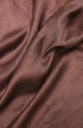 Мужской шарф изо льна и шелка BRIONI коричневого цвета, арт. 03UM00/P0125 | Фото 2
