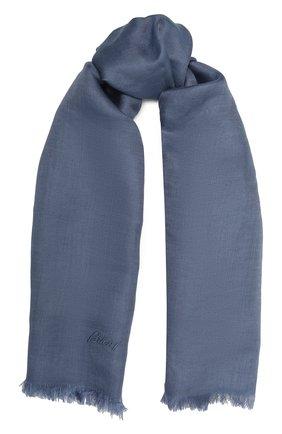 Мужской шарф изо льна и шелка BRIONI синего цвета, арт. 03UM00/P0125   Фото 1