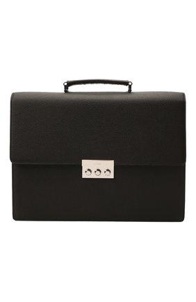 Мужской кожаный портфель BRIONI темно-коричневого цвета, арт. 0IUF0L/04702 | Фото 1