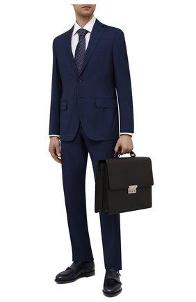 Мужской кожаный портфель BRIONI темно-коричневого цвета, арт. 0IUF0L/04702 | Фото 2