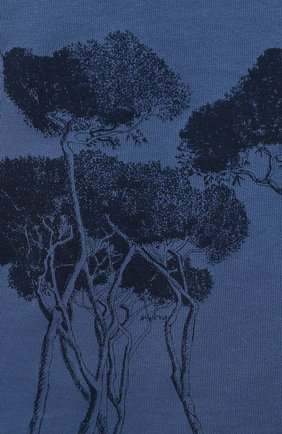 Мужская хлопковая футболка BRIONI синего цвета, арт. UJCH0L/P0646   Фото 5