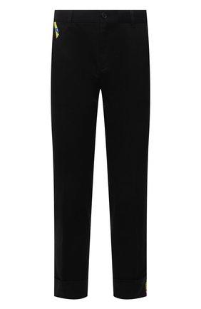 Мужские хлопковые брюки VERSACE черного цвета, арт. A89392/A229958 | Фото 1 (Длина (брюки, джинсы): Стандартные; Материал внешний: Хлопок; Случай: Повседневный; Стили: Кэжуэл)