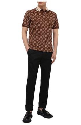Мужские хлопковые брюки VERSACE черного цвета, арт. A89392/A229958 | Фото 2 (Длина (брюки, джинсы): Стандартные; Материал внешний: Хлопок; Случай: Повседневный; Стили: Кэжуэл)