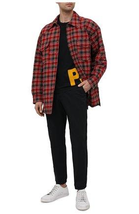 Мужская хлопковая футболка PARAJUMPERS черного цвета, арт. TS04/SEGU TEE | Фото 2 (Длина (для топов): Стандартные; Материал внешний: Хлопок; Рукава: Короткие; Принт: С принтом; Стили: Кэжуэл)