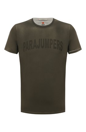 Мужская хлопковая футболка PARAJUMPERS хаки цвета, арт. TS21/PARAJUMPERS TEE CRK | Фото 1