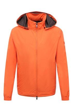 Мужской бомбер Z ZEGNA оранжевого цвета, арт. VW019/ZZ036 | Фото 1 (Материал внешний: Синтетический материал; Материал подклада: Синтетический материал; Рукава: Длинные; Длина (верхняя одежда): Короткие; Кросс-КТ: Куртка; Принт: Без принта; Стили: Кэжуэл)