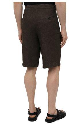 Мужские льняные шорты ERMENEGILDO ZEGNA коричневого цвета, арт. UUI32/TB11   Фото 4