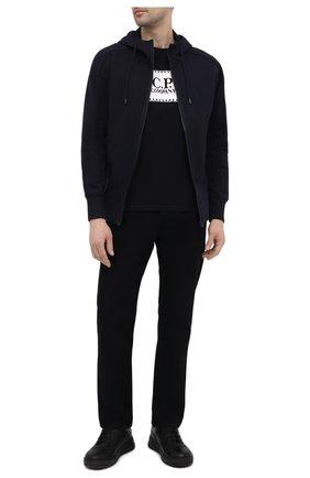 Мужская хлопковая футболка C.P. COMPANY черного цвета, арт. 10CMTS038A-005100W | Фото 2