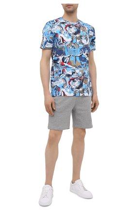 Мужские хлопковые шорты ICEBERG серого цвета, арт. 21E I1P0/D020/6300 | Фото 2