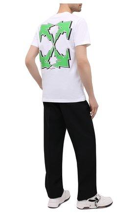 Мужская хлопковая футболка OFF-WHITE белого цвета, арт. 0MAA027S21JER012   Фото 2