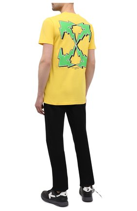 Мужская хлопковая футболка OFF-WHITE желтого цвета, арт. 0MAA027S21JER012 | Фото 2