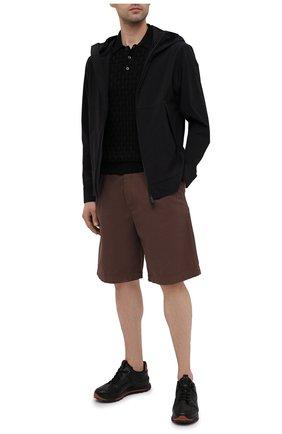 Мужское поло из шелка и хлопка IL BORGO CASHMERE черного цвета, арт. 56-1991-01G0 | Фото 2