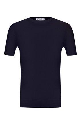 Мужской хлопковый джемпер IL BORGO CASHMERE темно-синего цвета, арт. 55-854G0   Фото 1