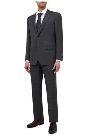 Мужские кожаные оксфорды W.GIBBS бордового цвета, арт. 0801045/2441   Фото 2