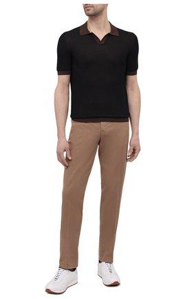 Мужское хлопковое поло GRAN SASSO коричневого цвета, арт. 57155/26901 | Фото 2