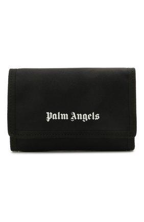 Мужской текстильное портмоне PALM ANGELS черного цвета, арт. PMNC017S21FAB0011001 | Фото 1