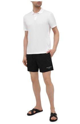 Мужские плавки-шорты BALMAIN черного цвета, арт. BWB640190 | Фото 2