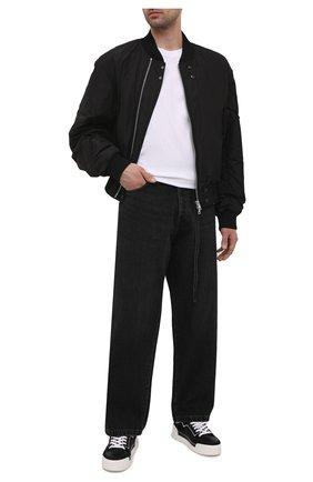 Мужские комбинированные кеды VIC MATIE черного цвета, арт. 1Z5880U.V02TZQT001 | Фото 2 (Материал внешний: Текстиль; Подошва: Массивная; Материал внутренний: Натуральная кожа)