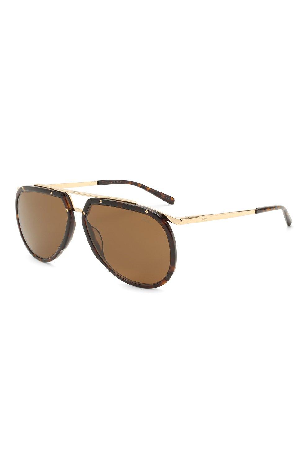 Мужские солнцезащитные очки BRIONI светло-коричневого цвета, арт. 0DC900/P3ZAC   Фото 1