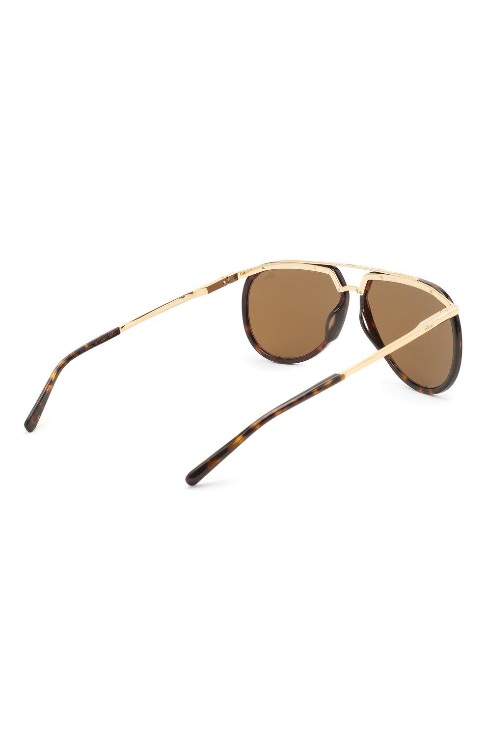 Мужские солнцезащитные очки BRIONI светло-коричневого цвета, арт. 0DC900/P3ZAC   Фото 4
