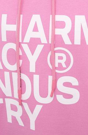 Мужской хлопковое худи PHARMACY INDUSTRY розового цвета, арт. PHM226 | Фото 5