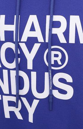 Мужской хлопковое худи PHARMACY INDUSTRY синего цвета, арт. PHM226 | Фото 5