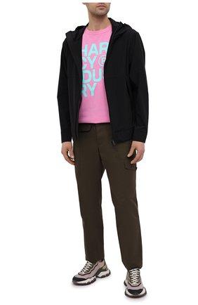 Мужская хлопковая футболка PHARMACY INDUSTRY розового цвета, арт. PHM227 | Фото 2
