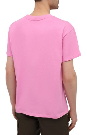 Мужская хлопковая футболка PHARMACY INDUSTRY розового цвета, арт. PHM227 | Фото 4