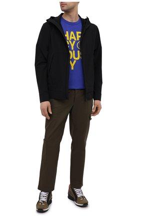 Мужская хлопковая футболка PHARMACY INDUSTRY синего цвета, арт. PHM227 | Фото 2