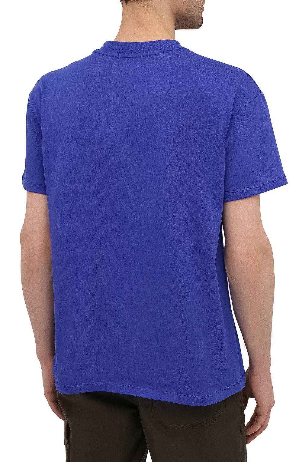 Мужская хлопковая футболка PHARMACY INDUSTRY синего цвета, арт. PHM227 | Фото 4