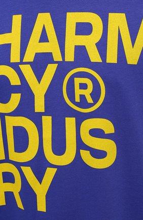 Мужская хлопковая футболка PHARMACY INDUSTRY синего цвета, арт. PHM227 | Фото 5